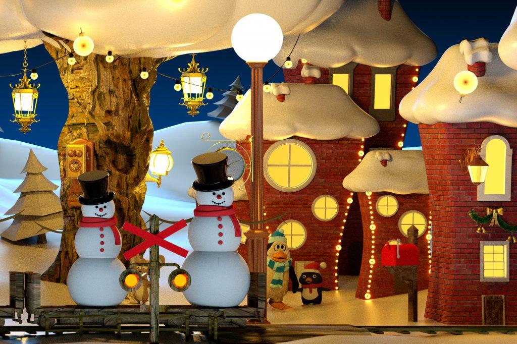 Полетели в Новый год Световое шоу 3d на Дворцовой на здании Эрмитажа
