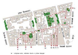 Карты проходных дворов — пешеходные маршруты Петербурга