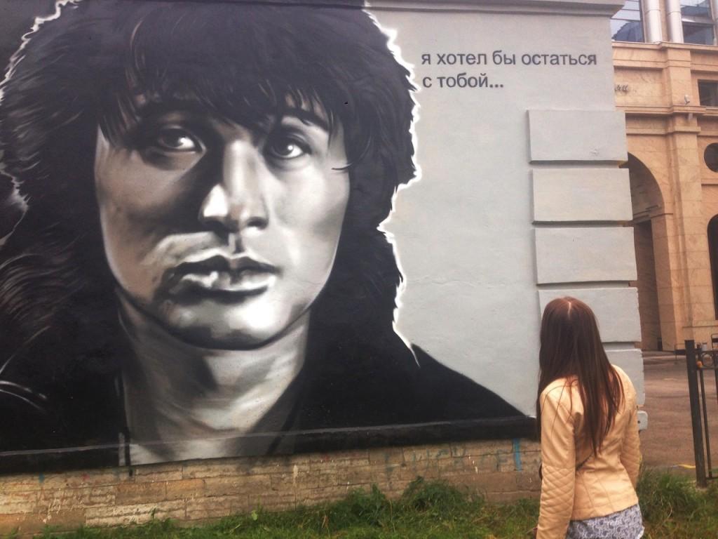 Граффити стрит-арт художников HoodGraff в Санкт-Петербурге