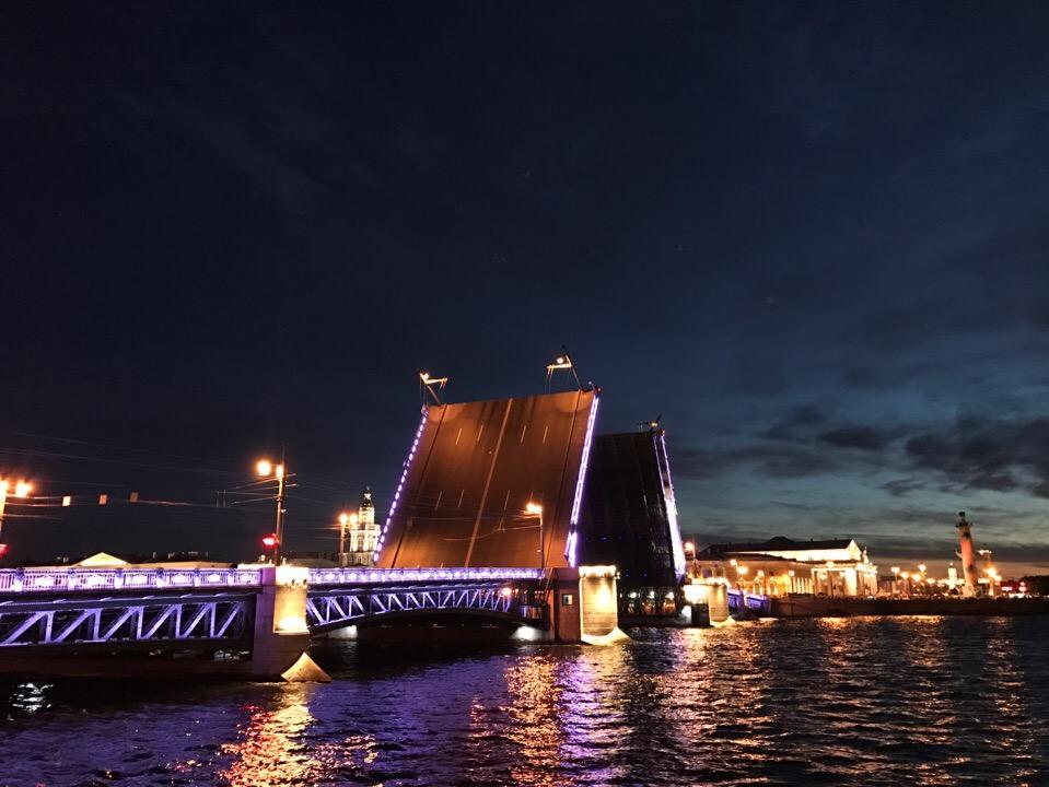 Ночной Петербург мосты
