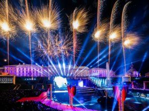 Открытие фонтанов в Петергофе 2021