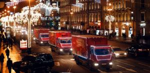 Рождественский караван Coca-Cola в Петербурге 2019