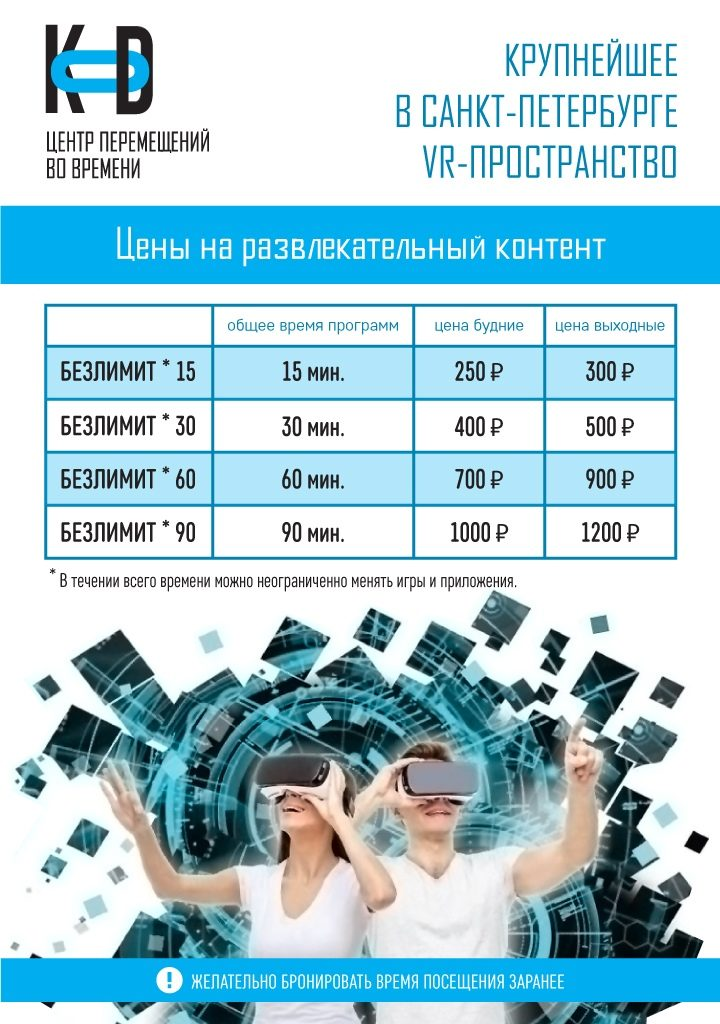 Виртуальная реальность KOD - Центр перемещений во времени
