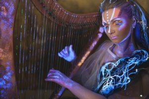 Концерт-перформанс  «Арфа в темноте» в Планетарии